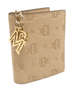 MCM Klara Monogram Bifold Mini Leather Charm