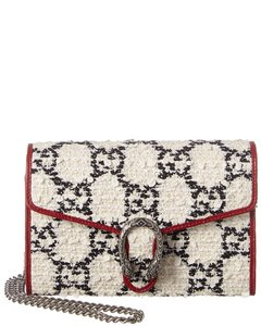 Gucci Gucci Dionysus Mini Tweed & Leather Wallet On Chain