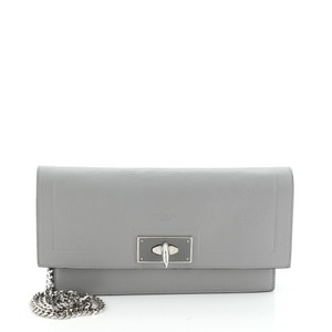Givenchy Leather Gray Clutch