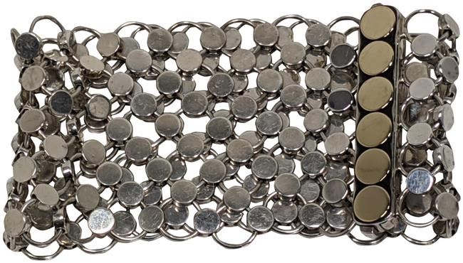 Item - Silver & Yellow Gold Sterling 18k Chainmail 6-dot Bracelet