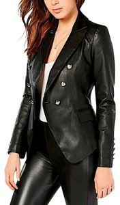 Veronica Beard black/silver with tag Leather Jacket