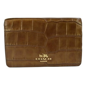 Coach Madison Embossed Croc Compact Clutch Wallet