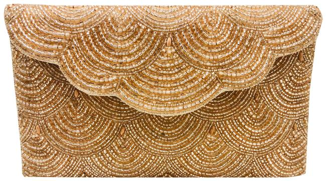 Item - Chevy Champagne Gold Beaded Clutch