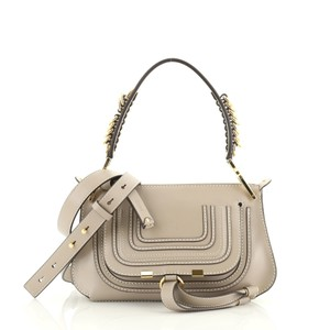 Chloé Leather Satchel in Gray