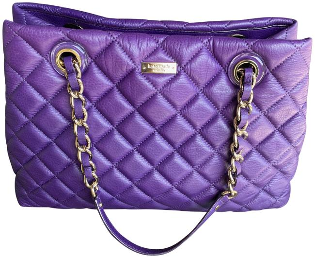 Item - Quilted Purple Lambskin Leather Shoulder Bag