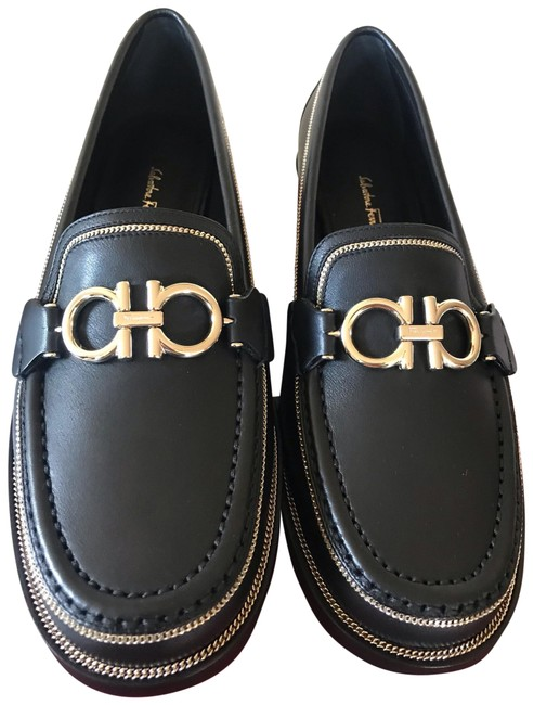 Item - Black Rolo Lux Gancini Loafers Flats Size US 7.5 Regular (M, B)