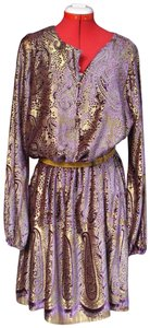 Chetta B. by Sherrie Bloom and Peter Noviello Velvet Metallic Burnout Dress
