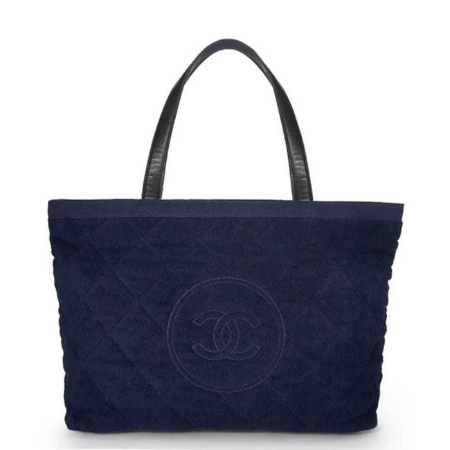 Item - Timeless Pool Limited Edition Navy Blue Terry Tote Beach Bag