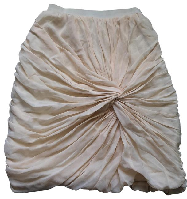 Item - Cream Ruched Skirt Size 4 (S, 27)
