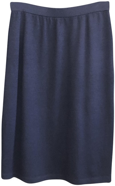 Item - Navy Blue Classic Knit Long Straight/Pencil Skirt Size 6 (S, 28)
