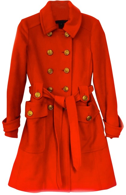 Item - Red Wool Military Coat Size 2 (XS)