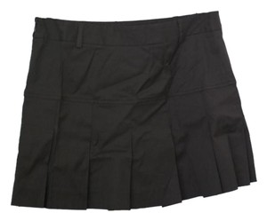 Theory Pleated Mini Short Size 2 Mini Skirt Brown