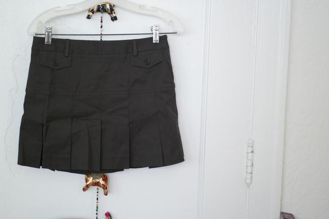 Theory Pleated Short Size Mini Skirt Brown