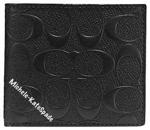 Coach $185 NWT COMPACT ID WALLET IN SIGNATURE CROSSGRAIN LEATHER F75371
