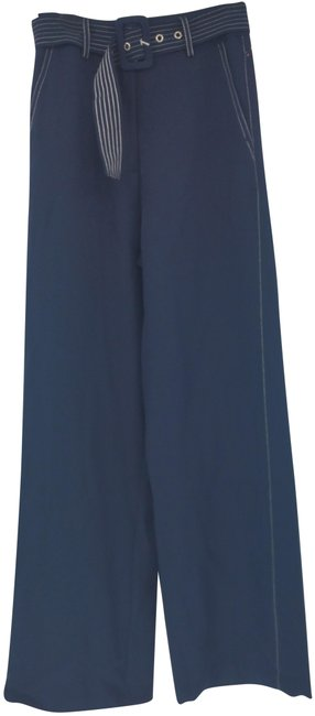 Item - Navy/White XS Women Long Woven Threading Belt Pants Size 2 (XS, 26)