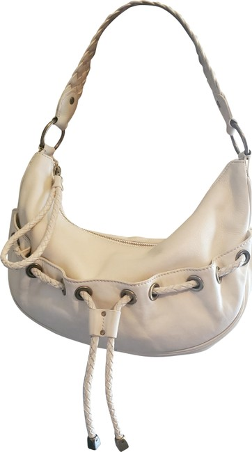 Item - Hobo Braided Strap Cream/Tan Leather Shoulder Bag