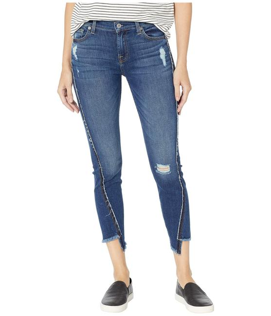 7 For All Mankind Blue Medium Wash Ankle Skinny Jeans Size 24 (0, XS) 7 For All Mankind Blue Medium Wash Ankle Skinny Jeans Size 24 (0, XS) Image 1