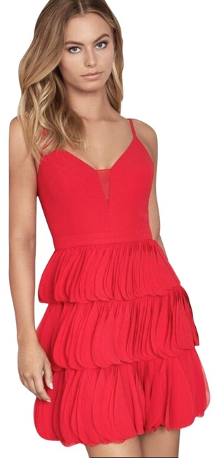 Item - Red Chiffon Party Short Cocktail Dress Size 8 (M)