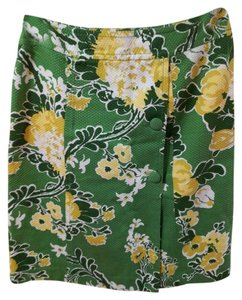 Talbots Skirt green/yellow