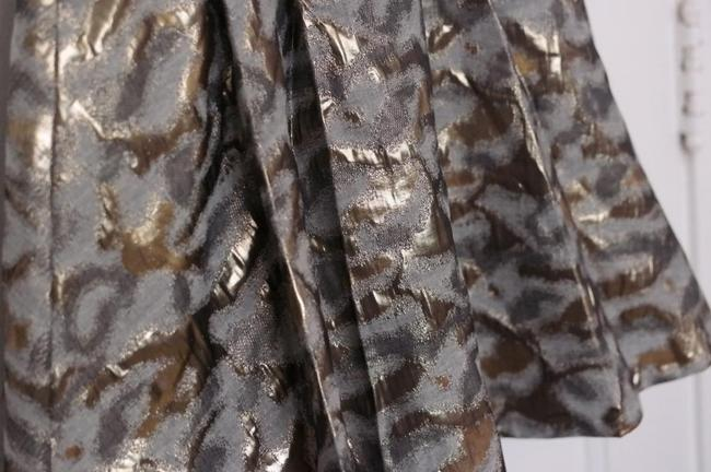 The Limited Foil Holiday Clothing Holiday Fancy Flare Fit And Flare Womens Skirt Gold
