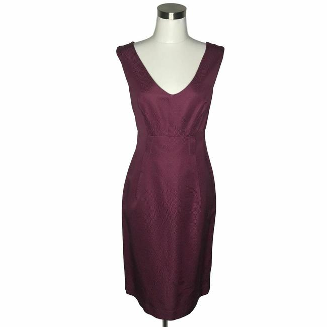 Item - Purple N720 Designer Solid Sheath Short Formal Dress Size 4 (S)