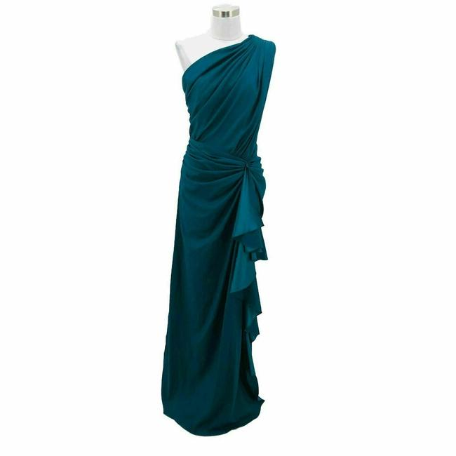 Item - Green N853 New Designer Small Maxi One Long Formal Dress Size 6 (S)