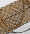 Gucci GG Shoulder Chain Crossbody Marmont Small Tote Brown Beige Black Canvas Messenger Bag Gucci GG Shoulder Chain Crossbody Marmont Small Tote Brown Beige Black Canvas Messenger Bag Image 12