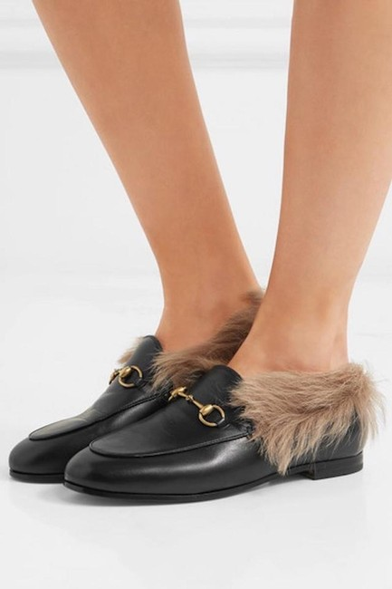 Item - Black Horsebit New Jordaan Shearling Fur Leather Loafers Flats Boots/Booties Size EU 41 (Approx. US 11) Regular (M, B)