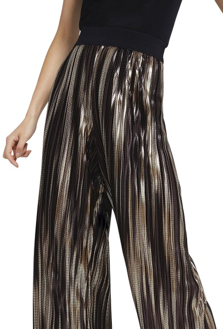 Item - Black/Gold with Tag Elba Wide Leg Ankle Pants Size 14 (L, 34)