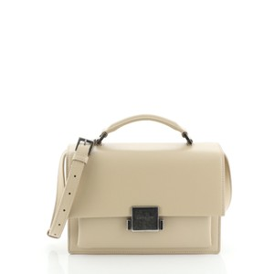 Saint Laurent Leather Satchel in Neutral