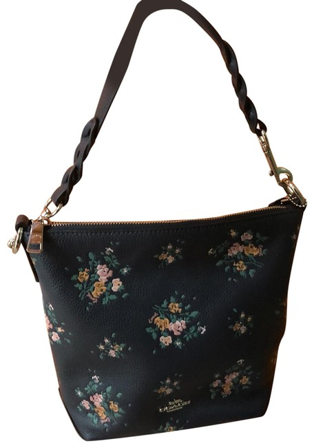 Item - Rose Bouquet Hand Midnight Navy Leather Hobo Bag