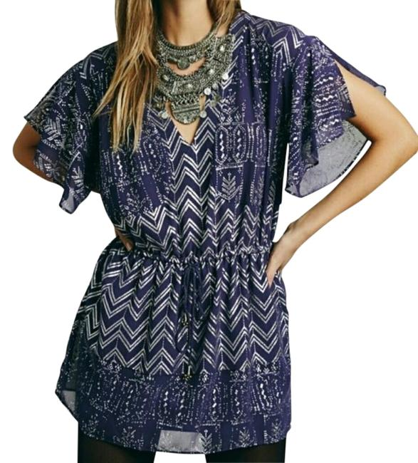 Item - Silver Love Your Chaos Metallic Short Night Out Dress Size 0 (XS)