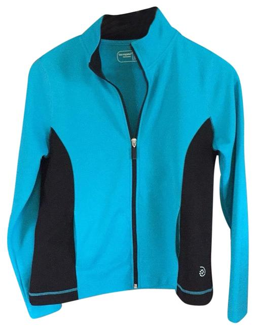 Item - Turquoise and Black Activewear Outerwear Size Petite 4 (S)
