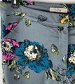 Darling Gray Pink Teal Floral Print Mid-rise Capris Size 12 (L, 32, 33) Darling Gray Pink Teal Floral Print Mid-rise Capris Size 12 (L, 32, 33) Image 2