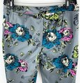 Darling Gray Pink Teal Floral Print Mid-rise Capris Size 12 (L, 32, 33) Darling Gray Pink Teal Floral Print Mid-rise Capris Size 12 (L, 32, 33) Image 6