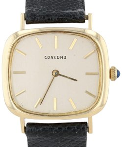 Concord Concord Ladies Vintage Dress Watch 18k Leather Band Serviced Warranty