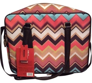 Missoni for Target Multi Colored Zig Zag Travel Bag