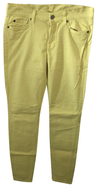 Item - Banana Yellow Light Wash Seven Like Skinny Jeans Size 8 (M, 29, 30)