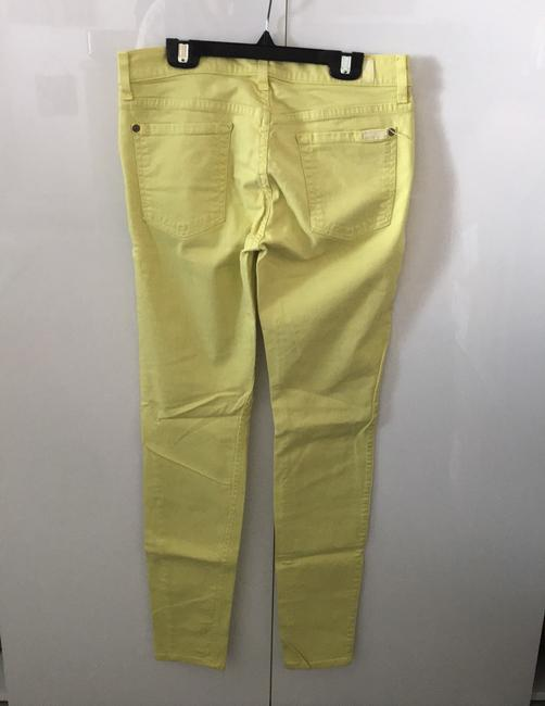7 For All Mankind Banana Yellow Light Wash Seven Like Skinny Jeans Size 8 (M, 29, 30) 7 For All Mankind Banana Yellow Light Wash Seven Like Skinny Jeans Size 8 (M, 29, 30) Image 2