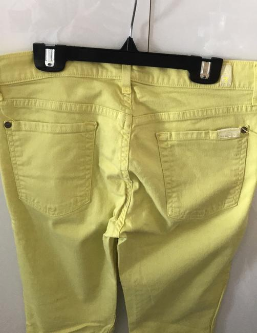 7 For All Mankind Banana Yellow Light Wash Seven Like Skinny Jeans Size 8 (M, 29, 30) 7 For All Mankind Banana Yellow Light Wash Seven Like Skinny Jeans Size 8 (M, 29, 30) Image 3