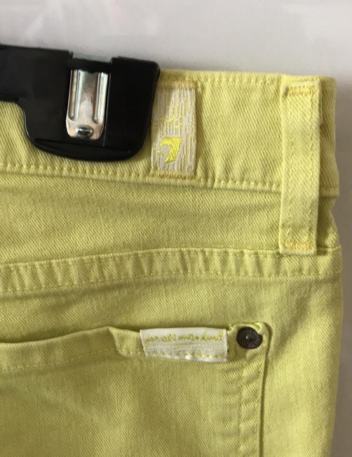 7 For All Mankind Banana Yellow Light Wash Seven Like Skinny Jeans Size 8 (M, 29, 30) 7 For All Mankind Banana Yellow Light Wash Seven Like Skinny Jeans Size 8 (M, 29, 30) Image 4