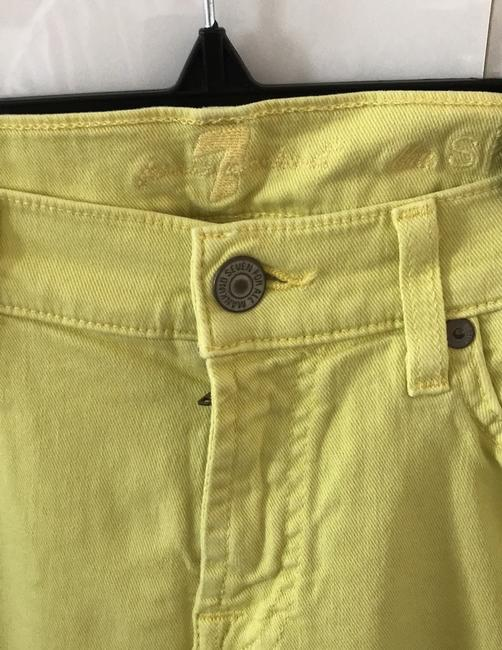 7 For All Mankind Banana Yellow Light Wash Seven Like Skinny Jeans Size 8 (M, 29, 30) 7 For All Mankind Banana Yellow Light Wash Seven Like Skinny Jeans Size 8 (M, 29, 30) Image 5