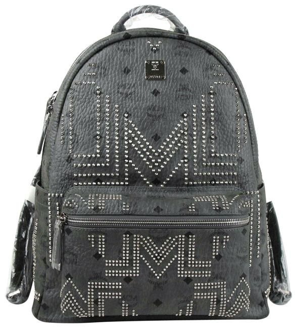 Item - Stark 40 Medium Studded Mmk8ave55ep001 Gray Coated Canvas Backpack