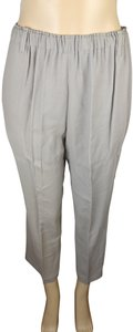 Barneys New York Luxury Cropped Small Trouser Pants Gray