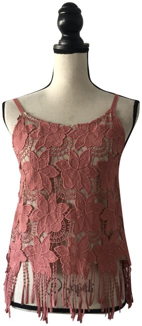 Item - Coral Lace Fringe Tank Top/Cami Size 2 (XS)