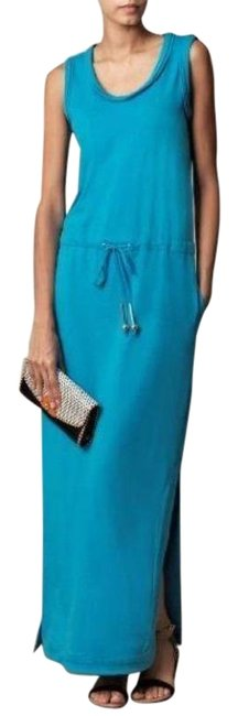 Item - Paradise Blue Rae Sleeveless Long Casual Maxi Dress Size Petite 0 (XXS)
