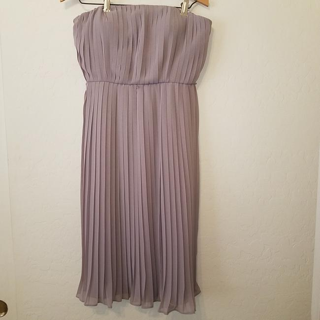 Item - Tannish Grey None Mid-length Cocktail Dress Size 4 (S)