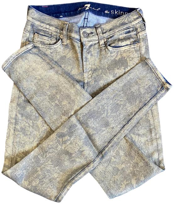 Item - Gold Coated Wash The Skinny Jeans Size 25 (2, XS)