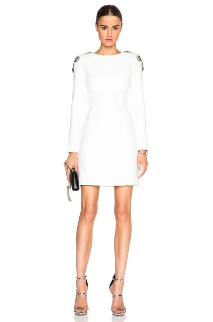Item - White Whiteout Mid-length Formal Dress Size 4 (S)