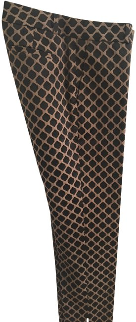 Item - Black and Beige Diamond Patterned Camden Pants Size 6 (S, 28)